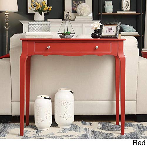 Inspire Q Daniella 1-Drawer Wood Accent Console Table by Bold Red Painted (Painted Small Console Table)