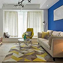 Simple Geometric Living Room Coffee Table Sofa Large Carpet ( Size : 120*160cm )