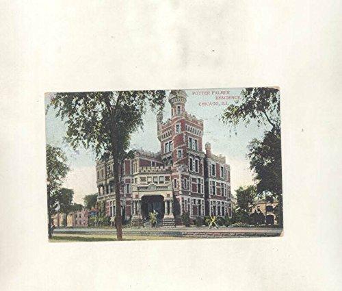 1908 Potter Palmer Residence Chicago Illinois ORIGINAL Postcard - Palmer Residence