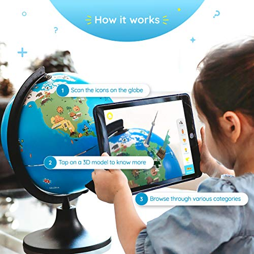 Shifu Orboot (App Based): The Educational, Augmented Reality Based Globe | STEM Toy for Boys & Girls Age 4 to 10 Years | Learning Toy Gift for Kids (No Borders and No Names on Globe) by Shifu (Image #3)