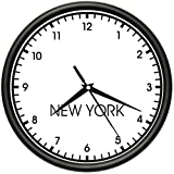 world times - NEW YORK TIME Wall Clock world time zone clock office business