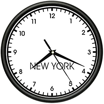 Amazon.com: NEW YORK TIME Wall Clock world time zone clock office ...