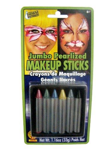 [Rubies Jumbo Pearlized Makeup Sticks] (Cat Makeup Halloween)