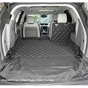4Knines SUV Cargo Liner for Fold Down Seats - Heavy Duty - 60/40 Split and Armrest Pass-Through Compatible - USA Based Company (Large, Black) 99