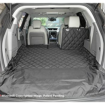 Image of 4Knines SUV Cargo Liner for Fold Down Seats - 60/40 Split and Armrest Pass-Through Compatible - USA Based Company Pet Supplies