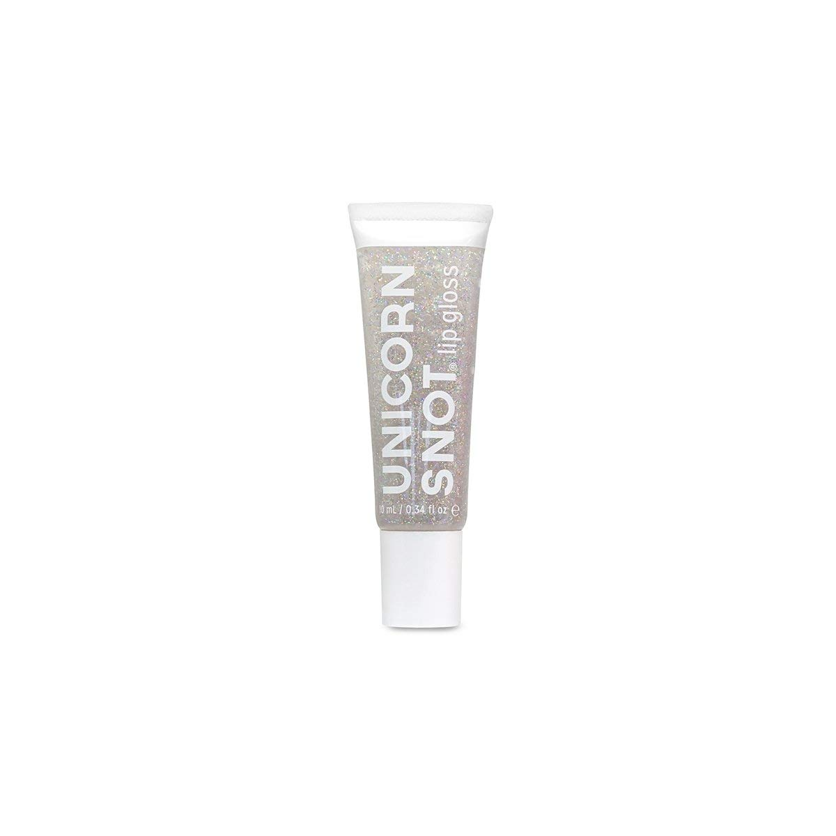 Unicorn Snot Holographic Glitter Lip Gloss, Vegan and Cruelty Free, Silver, 0.34 Fluid Ounce