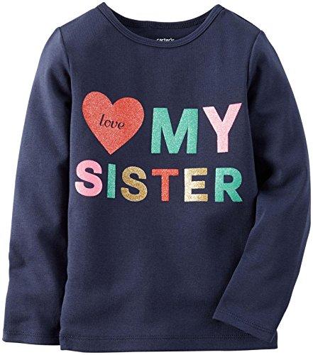 Carter's Baby Girl Slogan Top – Love My Sister – 3 maanden