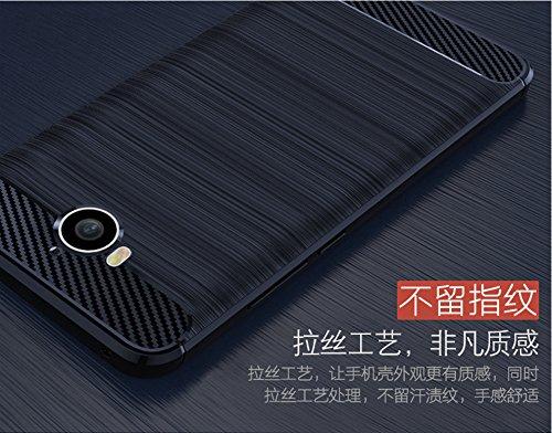Funda Huawei Y5 2017,Funda Fibra de carbono Alta Calidad Anti-Rasguño y Resistente Huellas Dactilares Totalmente Protectora Caso de Cuero Cover Case Adecuado para el Huawei Y5 2017 C