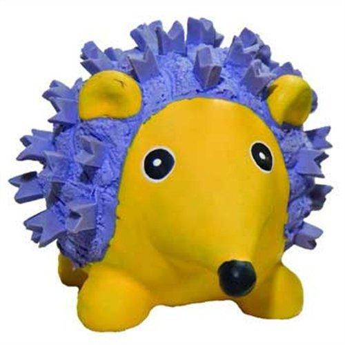 HuggleHounds Ruff-Tex Violet the Hedgehog Dog Toy – Mini, My Pet Supplies