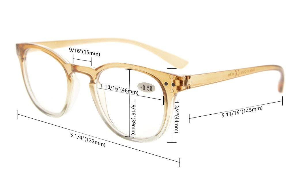 Eyekepper Fashion Readers Womens Reading Glasses Brown-Clear Frame, 1.50