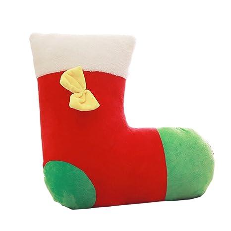Wa Creativo Navidad Calcetines Almohada Serie de Navidad Almohadas Regalos Sofá Cama Suministros Rojo