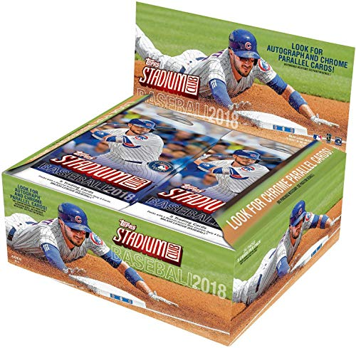 2018 Topps STADIUM CLUB Baseball Series Unopened Retail Box of 24 Packs with Chance for Chrome Parallels and Autographed Cards and Shohei Otani Rookie Cards Plus
