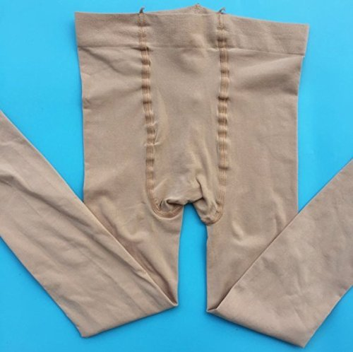 CoCocina 3 Pair Thin Professional Ballet White Pantyhose Plus File Anti-Pilling Velvet Children'S Dance Socks - Flesh - M by CoCocina