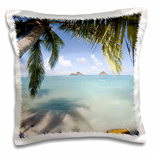3dRose pc_89669_1 Mokulua Islands, Lanikai Beach, Oahu, Hawaii-US12 DPB1008-Douglas Peebles-Pillow Case, 16 by 16'' by 3dRose