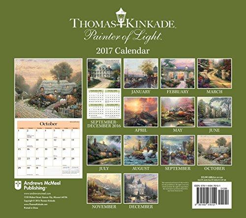 thomas kinkade painter of light 2017 deluxe wall calendar import it all. Black Bedroom Furniture Sets. Home Design Ideas