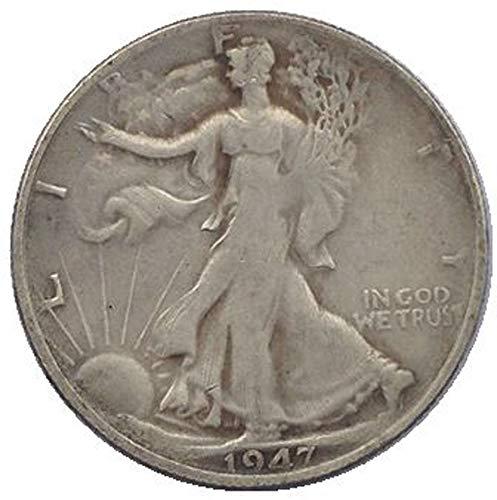 xingtingyu 1947 USA Walking Liberty Half Dollar Coins Copy