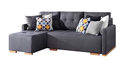 Terrific Selsey Folk Corner Sofa 3 Seater Lounge Sofa Bed In Beautiful Inari Gray Fabric Ocoug Best Dining Table And Chair Ideas Images Ocougorg