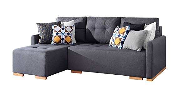 Terrific Selsey Folk Corner Sofa 3 Seater Lounge Sofa Bed In Beautiful Inari Gray Fabric Pabps2019 Chair Design Images Pabps2019Com