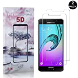 Galaxy A5 2016 Tempered Glass Screen Protector, UNEXTATI® Premium HD Clear Screen Protector, Anti Scratch Tempered Glass Film for Samsung Galaxy A5 2016 (2 PACK)