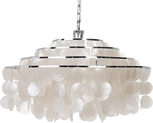 KOUBOO 1050106 Round Layered Hanging Ceiling Lamp, One Size, White