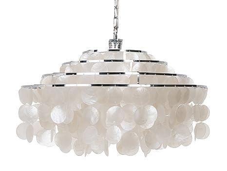 Amazon.com: KOUBOO redonda capas de Capiz lámpara de techo ...