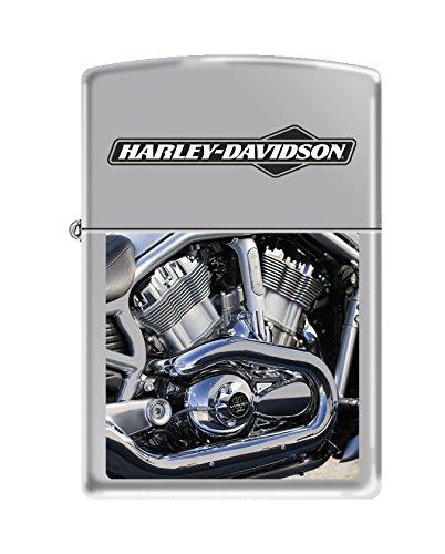(Zippo Harley-Davidson Engine High Polish Chrome Pocket Lighter)