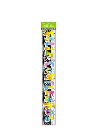 Partygram - Cartel Metalizado Feliz Cumpleaños - 12 Unidades ...