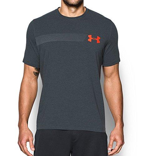 Under Armour Men's Chest Logo T-Shirt, Stealth Gray Medium/White, Medium