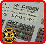 250 Security seal, Void hologram stickers, warranty tamper evident labels 1.25 x .59 Inch