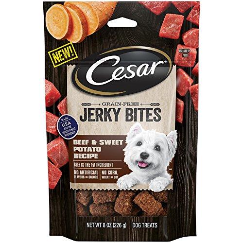 Cesar Pouch - Cesar Jerky Bites Grain Free Dog Treats Beef & Sweet Potato Recipe, (6) 8 Oz. Pouches