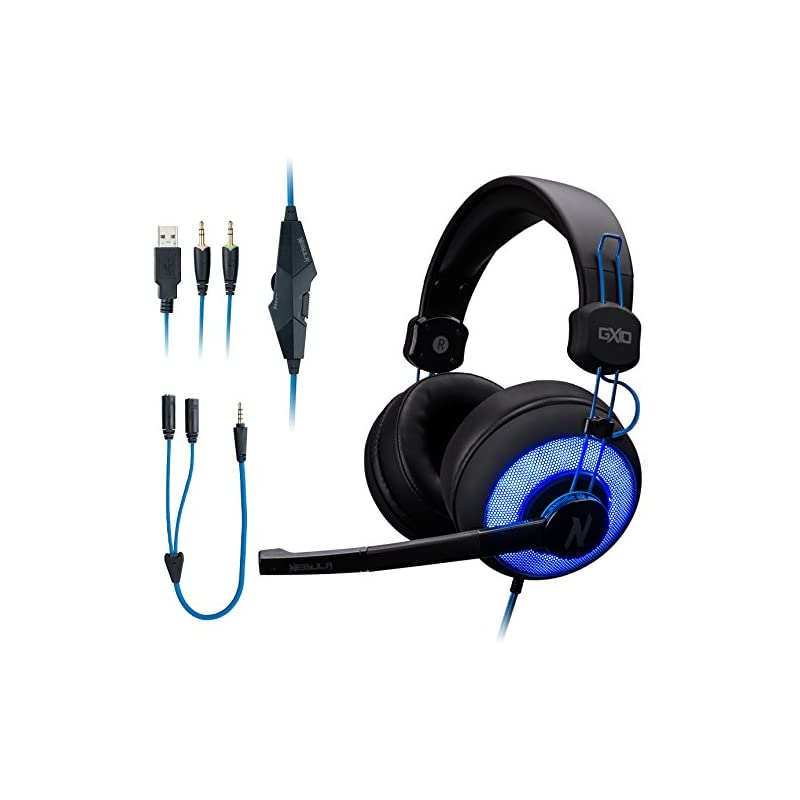 ROSEWILL Stereo Gaming Headset Mic LED P