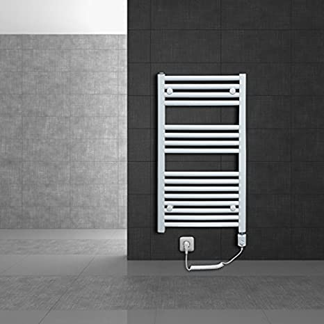 Radiador toallero 600 x 1800 mm Radiador de calefacción Secador de toallas Eléctrico 1200W Barra curvada