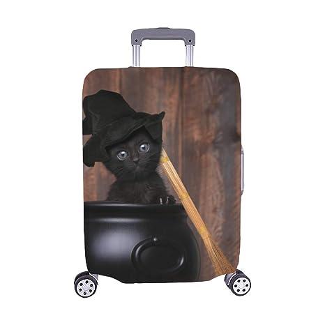 El Gato Negro con patrón de Ojos Amarillos Spandex Maleta de ...