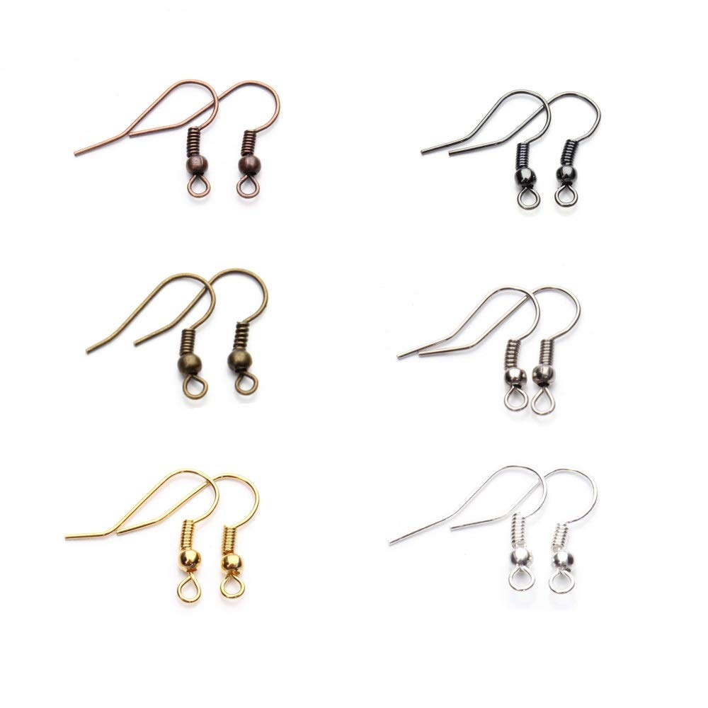 Mini-Factory 120pcs/case French Hook Ear Wires, DIY Jewelry Making Earring Hooks - Mix-Colors