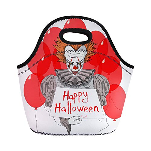 Semtomn Lunch Bags Creepy Character Evil Clown Wiith