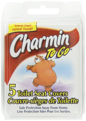 Charmin To Go Toilet Seat Covers, 5-Count (Pack of 24)