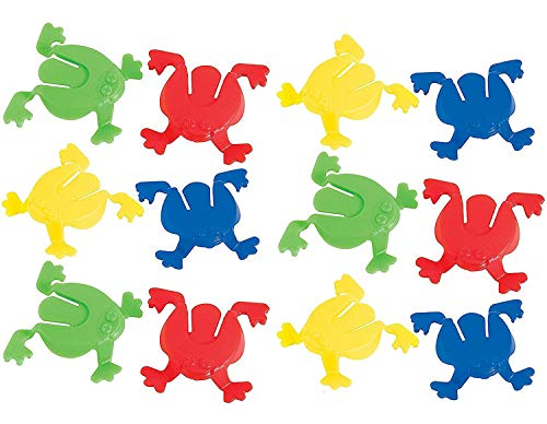 Mini Jumping Frogs - Pack of 12 - 2 Inches Assorted Colors Frog Jumping Toy - for Kids Great Party Favors, Bag Stuffers, Fun, Toy, Gift, Prize, Piñata Filler - by Kidsco