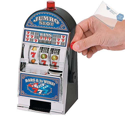 Bargain World Jumbo Slot Machine Bank (With Sticky Notes) (Slot Bank Jumbo)