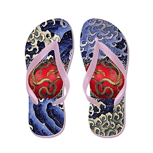 Cafepress Sea Dragon - Chanclas, Sandalias De Tanga Divertidas, Sandalias De Playa Rosa