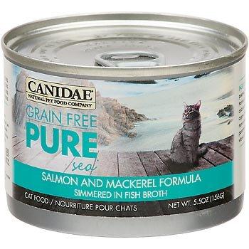 Canidae Grain Free Pure Sea Salmon & Mackerel Canned Cat Food, 5.5 - Canidae Grain