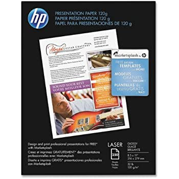 Amazoncom HP Premium Presentation G Laser Paper Glossy - Hp brochure templates
