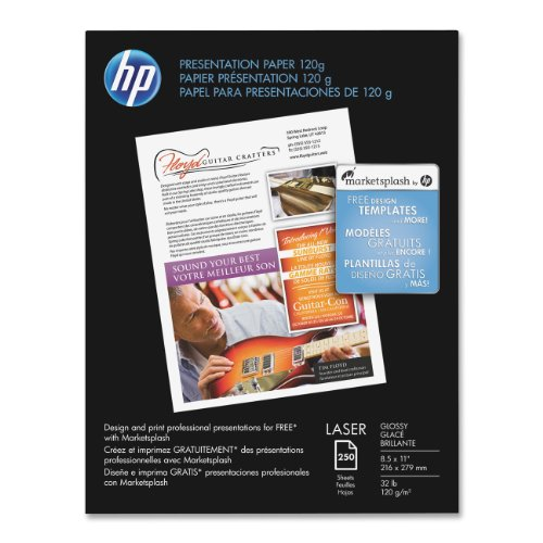 ion 120g Laser Paper, Glossy, 8.5x11 250 Sht (Hp Color Laser Glossy Photo Paper)