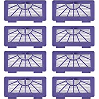 KEEPOW 8 Pack Replacement Filters for Neato XV-21 XV Signature XV Signature Pro XV-11 XV-12 XV-15 Robot Vacuums