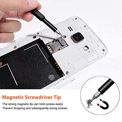 Precision Screwdriver Set, 24 in 1 Magnetic Driver Bit Set, Mini Pocket Screwdriver Repair Tool Kit with Premium Quality Aluminum Case for Electronics/Smartphone/Tablet/PC/Eyeglasses