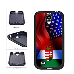Hungary and USA Mixed Flag TPU RUBBER SILICONE Phone Case Back Cover Samsung Galaxy S4 I9500