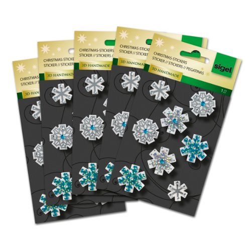 Sigel CS311 Christmas Stickers 3D Handmade, Snow Fantasy, 8 sticker