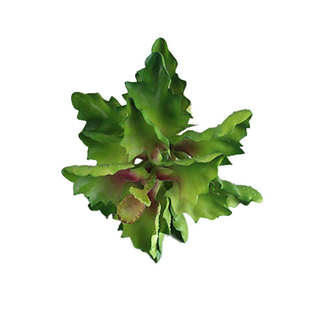 Rouge Sedum Plante Succulente Artificielle Grande Feuille Paysage D/écor /à La Maison