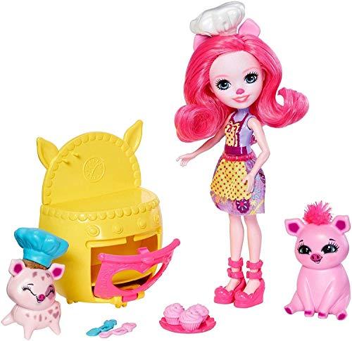 Enchantimals Fiesta pastelera, muñeca con accesorios (Mattel FJJ28)