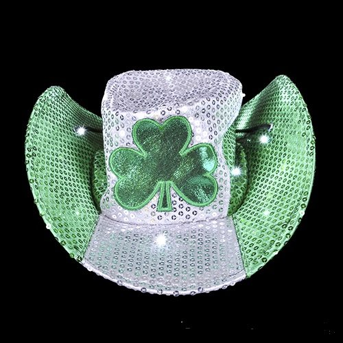 ST. PATRICK'S DAY LED COWBOY HAT, Case of 24 by DollarItemDirect