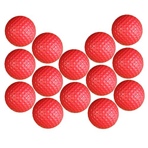 Dsmile Practice Golf Balls, Foam, 14 Count, Red